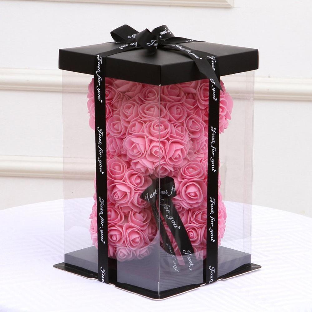 2020NewTransparent Empty Gift Box for Artificial Teddy Bear Rose Flower Gifts Box Women Plush Bear Rabbit Gift