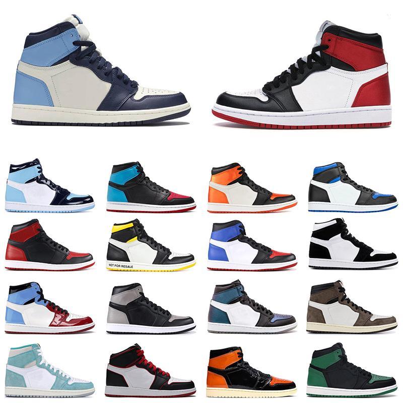 Nike Air Jordan retro 1  Stock X 1 High Travis Scott cactus jack Low Fearless Obsidian Mens Basketball shoes Spiderman 1s Chicago Banned Bred Toe Men Sports Designer Sneakers