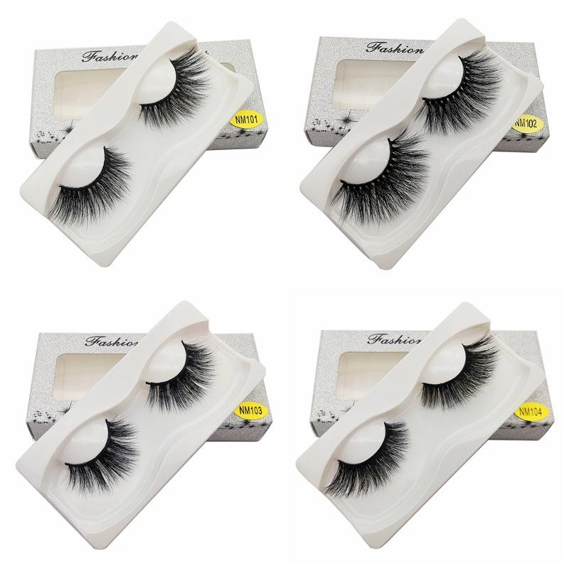 1Pair 15-20mm Mink Eyelashes 100% Cruelty free Lashes Handmade Reusable Natural Eyelashes Popular False Lashes Makeup