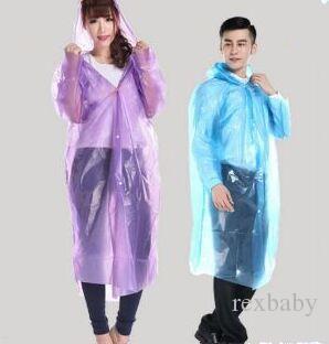 Imperméable jetable Imperméable PE Unisexe Imperméable Une seule fois Poncho Vêtements de pluie Outil pour la maison Manteau de pluie Manteau de pluie Vêtements de pluie Capuchon Adulte