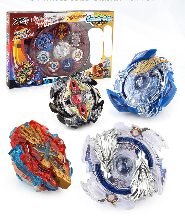 Burst generation gyro competitive battle disk luxury version gyro disk set 4 in 1 combination handle