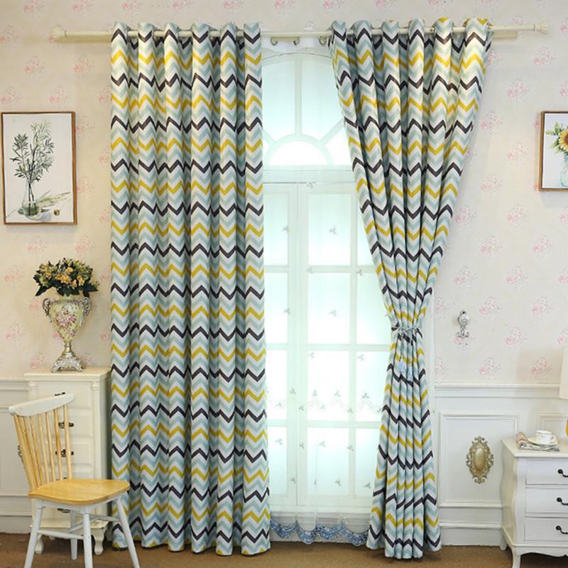 Новые шторы для гостиной спальни производитель продает непосредственно скандинавский геометрический гофрированный печатный теневой занавес