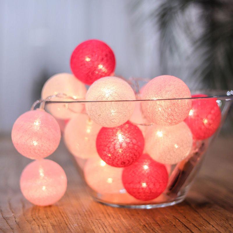 Fábrica Garland Luz fio de algodão LED Bola de Natal de Ano Novo Bebê do feriado Bed Luzes do partido casamento fada Decorati Indoor
