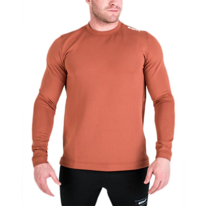 la aptitud del músculo Nueva camiseta de otoño Deportes hombres superiores de la ropa de algodón suelta baloncesto entrenamiento de culturismo camisa masculina