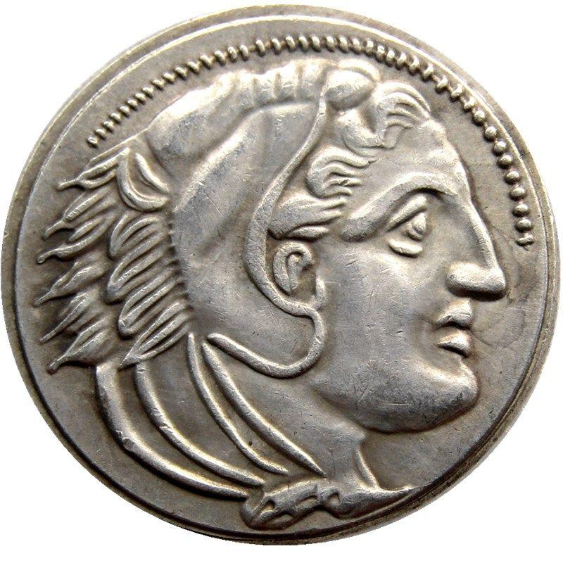 G (03) Древние Афины греческой Серебряная драхма - Атено -333--320 Гра Древнегреческой монета хорошего качество Монета Retail / Whole Продажа Бесплатной доставки