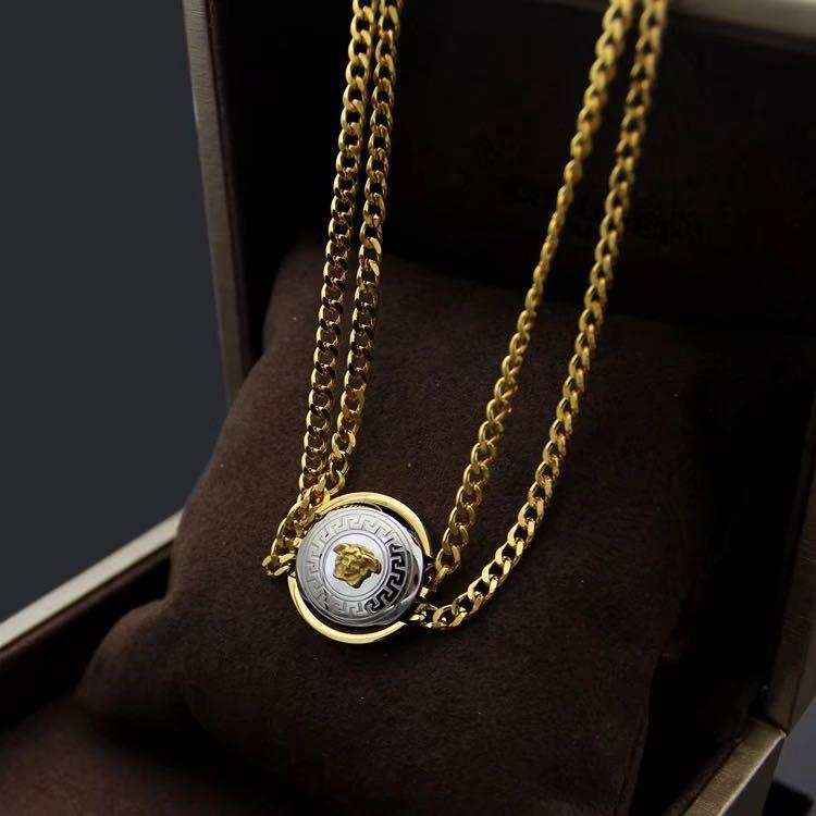 Wholesale Fashion Necklace Rose Gold Double Chain Necklace For Men And Women Hip Hop Jewelry Designer Necklace Iced Out Pendant Designer Jewelry Silver Jewelry Gold Jewelry From Zhuoya Jewelry01 10 74 Dhgate Com