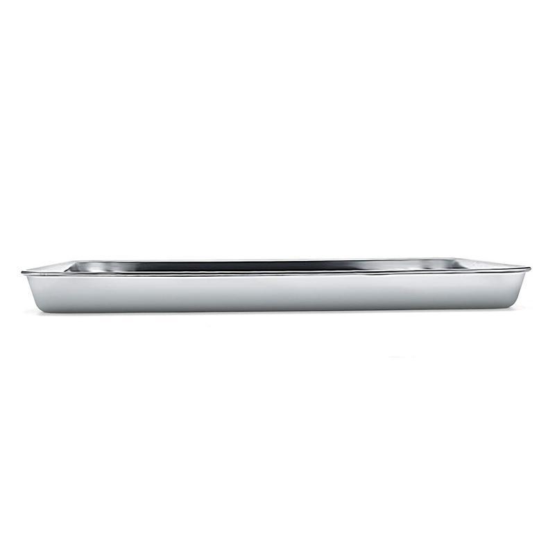 Assadeira, assadeira de aço inoxidável Torradeira Bandeja Pan Retângulo Easy Clean, lava-louças (12 polegadas) Cozinha Storage organizat