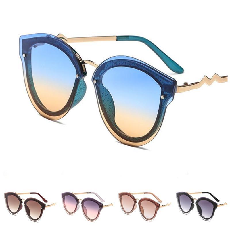 Mode Frauen Randlos Sonnenbrille-Steigung-Farben Sun Glasse Brille Anti-UV-Brille Brillen Ornamental SONNENBRILLEN A ++
