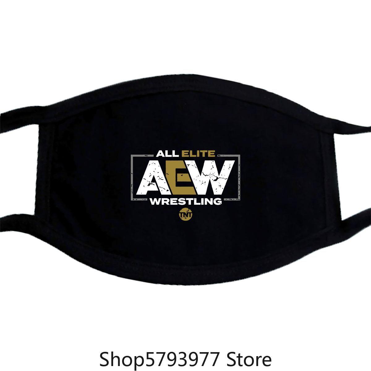 Tutti Elite Wrestling Aew Tnt Tv Show 2019 Maschera Nera Corta Da Uomo Delle Donne ctwzr