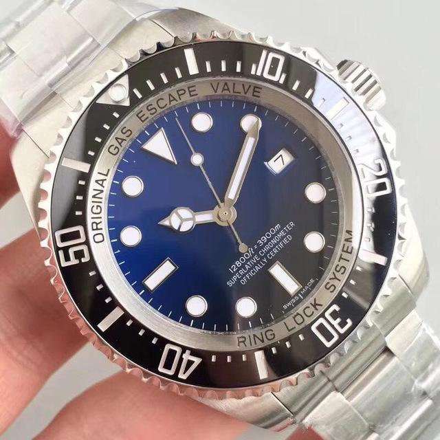 고품질 시계 최고의 새로운 럭셔리 손목 시계 바젤 스테인레스 스틸 43mm 시계 자동 기계식 망 시계