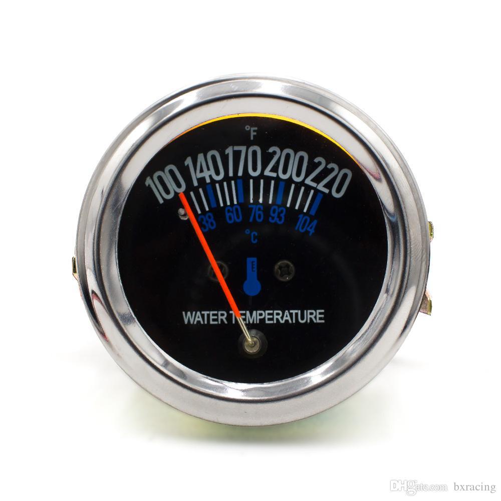 2inch 52mm 12V DC Electrical Mechanical Car Water temp Temperature Gauge Black Face Fahrenheit Water Temp meter