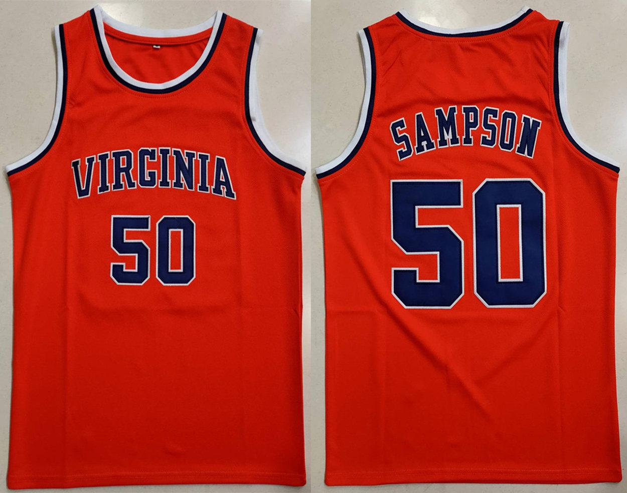 RALPH SAMPSON COLLEGE BASKETBALL JERSEY SEWN NEW ANY SIZE
