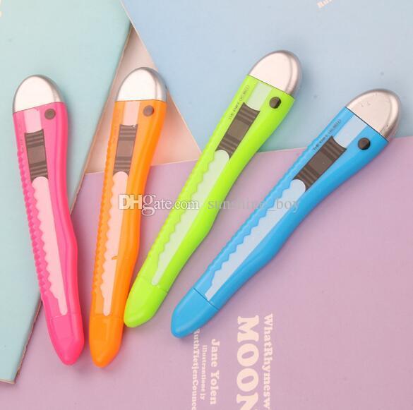 2019 venda quente originalidade arte faca modelagem caneta neutra preto 0.5mm material escolar preto água caneta escola material de escritório