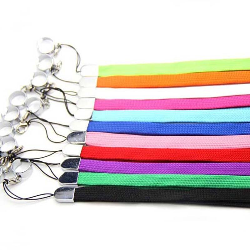 Newest Colorful Lanyard Metal Fixed Finger Ring Rope Necklace Portable Convenience For Wax Herb Vape Pen EGO Battery E-cigarette DHL Free