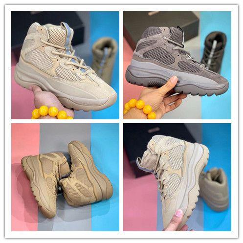 2019 Rock New Sal Kanye West Desert Boot hombres con la caja de aceite diseñador de Super Yellow Moon Blush de los zapatos corrientes al aire libre Sho