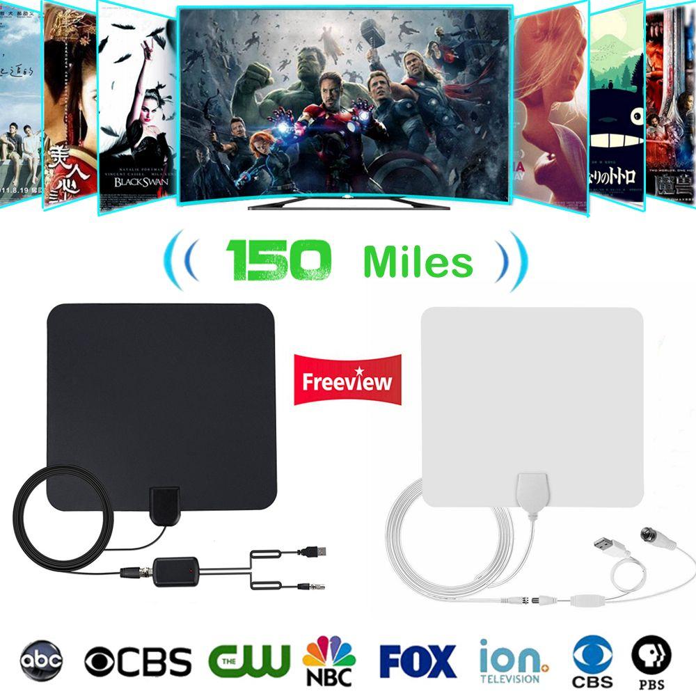 Indoor TV Antena Digital HDTV Antena 4K HD TV Antenas VHF / UHF DVB-T / T2 ATSC