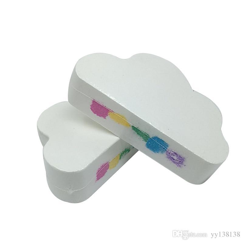 Arco iris de la nube de sal Aceite Esencial de baño bola burbuja Exfoliante hidratante de la piel Cuidado de la burbuja Puntales Natural bombas de baño nuevo balón