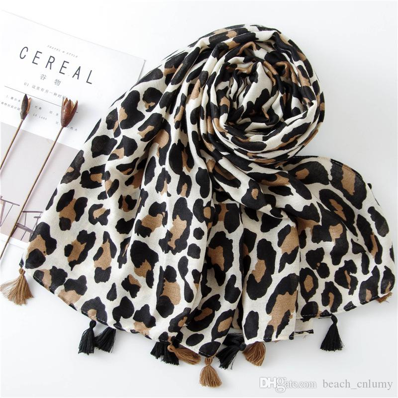 Fashion Women Leopard Print Scarf 180*90cm Leopard Stole Thin Cotton Warm Large Shawls and wraps foulard femme cachecol Accessories