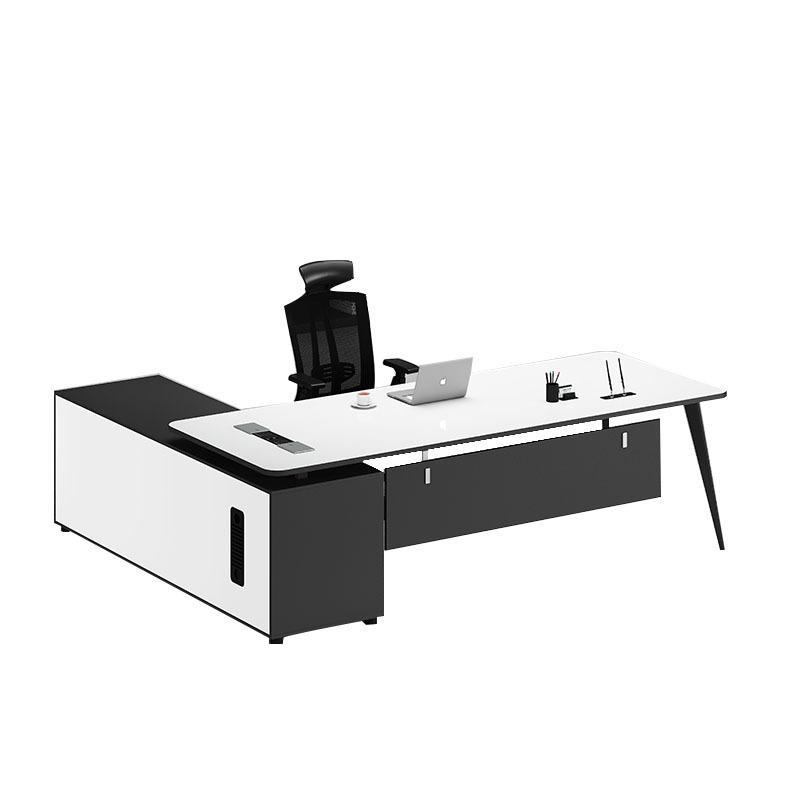 Muebles de oficina de oficina de oficina moderna personalizados Muebles de oficina de oficina en forma de oficina Mesa de escritorio del gabinete del gabinete del documento