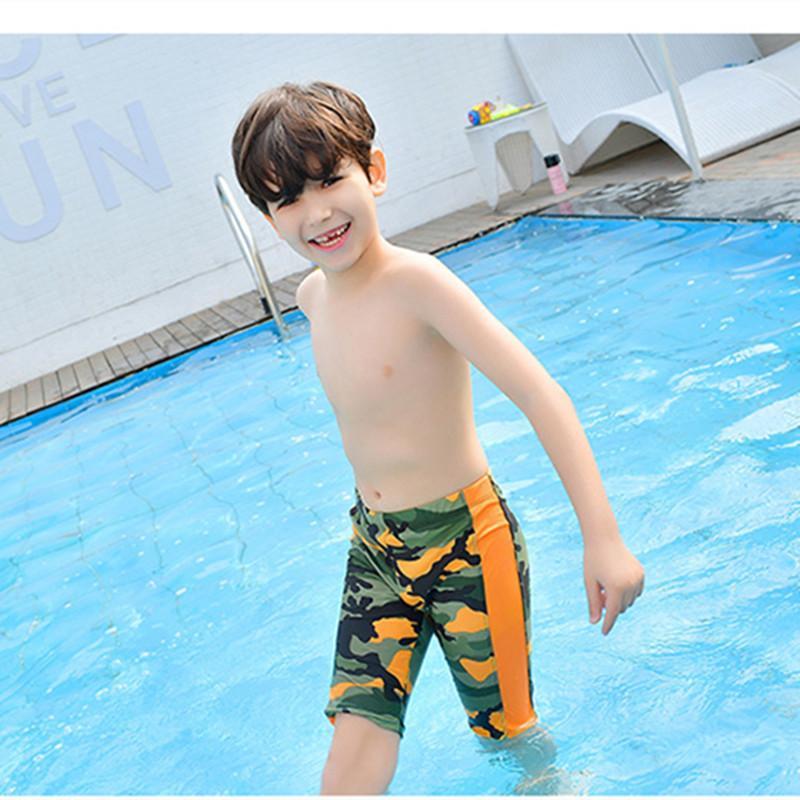 Funfeliz Boys Swimming Trunk Kids Boy Boardshorts Black Green Kids Swimwear 3-11 Years Children Swimsuit Pool Bathing Suit J190522