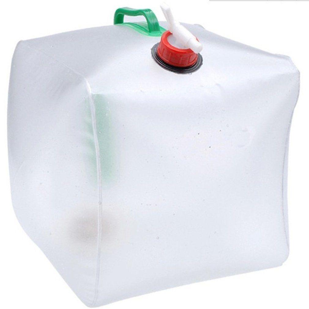 Durable 20L PVC Große zusammenklappbares Trinkwasser Tasche Faltbare Wasserträger Container Flasche für im Freien Camp Picknick