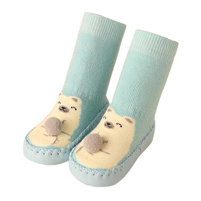 Herbst und Winter warme Kindersocken rutschfeste 0-3 Jahre altes Baby Schuhe Socken Kleinkind Socken Baby Boden Schuhe
