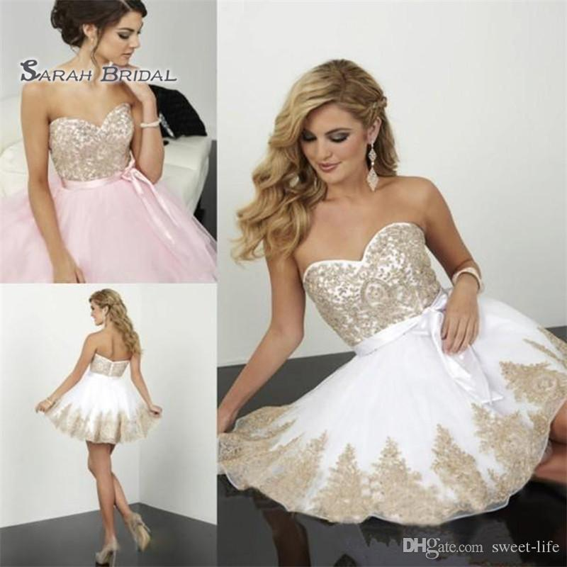 Lace Homecoming Dresses Mini short A-line Sweetheart Sash Backless Cocktail Party Gowns Simple Cheap Prom Dress