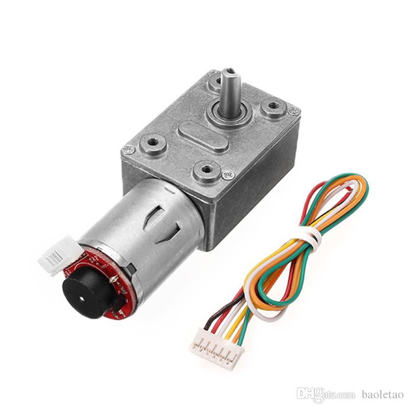 1pc GM4632-370 DC 12V 30RPM High Torque Turbo Encoder Motor Worm Geared Motor Reducer Motor