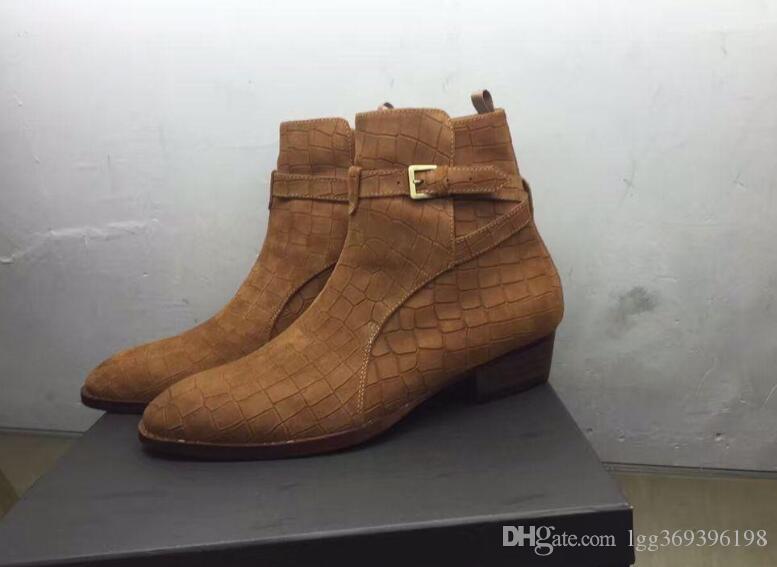 Nova lista personalizado Handmade slp Man Paris passarela da forma genuína botas de couro Jodhpur alta superior sapatos da moda Persional