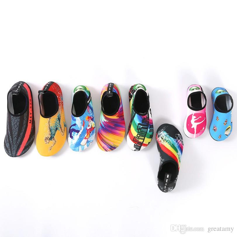 15 designs Non-Slip Water Shoes children adult neoprene water socks Lightweight Wear-Resistant Yoga Socks For Swimming Diving Surfing