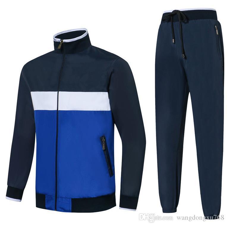 tuta sportiva da uomo M-2XL tuta sportiva per il tempo libero moda felpe maniche lunghe giacca + pantaloni tuta sportiva all'aperto