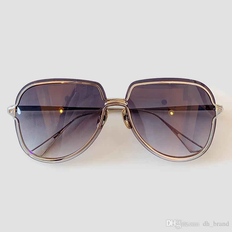 Mujeres piloto gafas de sol de lujo del diseñador del vintage de alta calidad sin montura del espejo de las gafas de sol de las mujeres Eyewear UV400