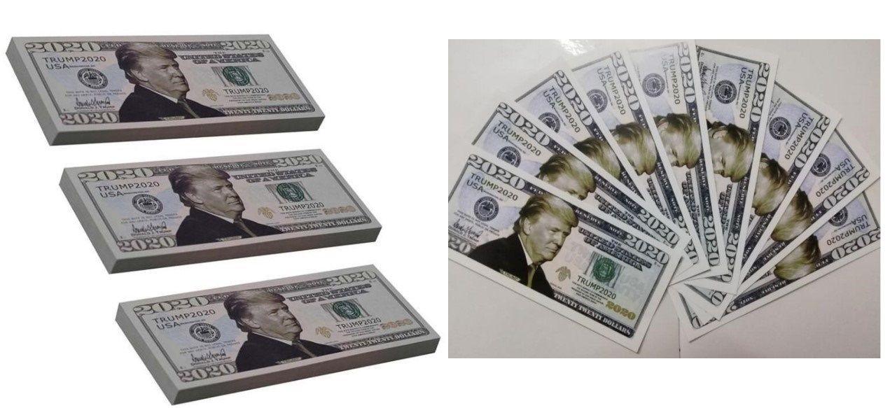 Großhandel heiße neue Trump 2020 Dollar US-Präsident Banknote Rechnungen Gedenkmünze Kunst und Handwerk für Sammlung Allgemeine Wahlen Supplies