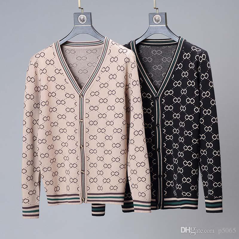 2020 Paris Fashion Show mais recente do Men Sweater Designer de Marca Homens e Mulheres de manga comprida camisola M-3XL 5306