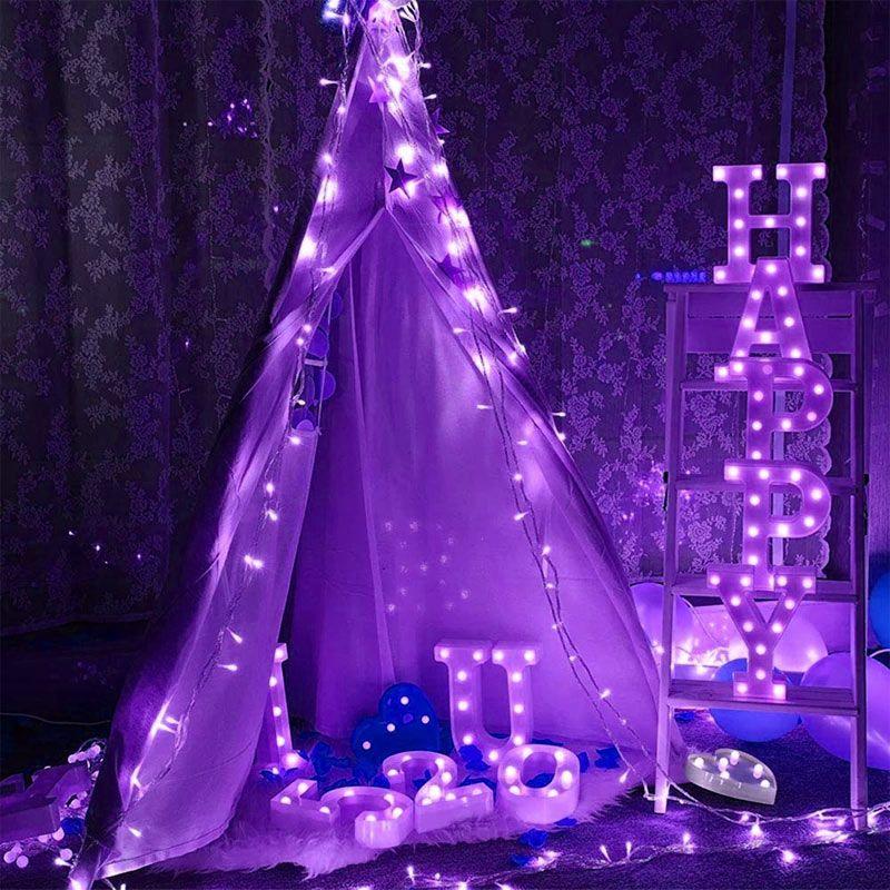 BRELONG 1 개 5M 50LED 3M 20LED 체인 다기능 방수 휴가 문자열이 여러 가지 빛깔의 조명 크리스마스 장식 조명 점등