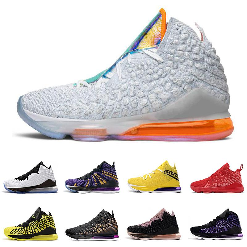 2020 men basketball shoes 17s black white Future court purple yellow university red bron 2k 17 men trainer breathable sports sneakers
