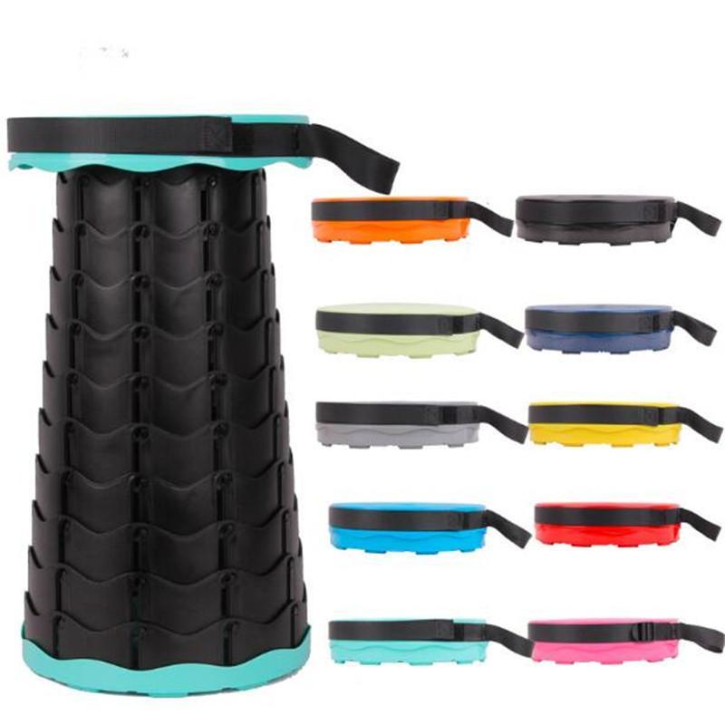 20шт Оптовая продажа 19 цвет портативный складной стул сиденье выдвижной пластиковый открытый барбекю кемпинг Рыбалка стул 3-го поколения