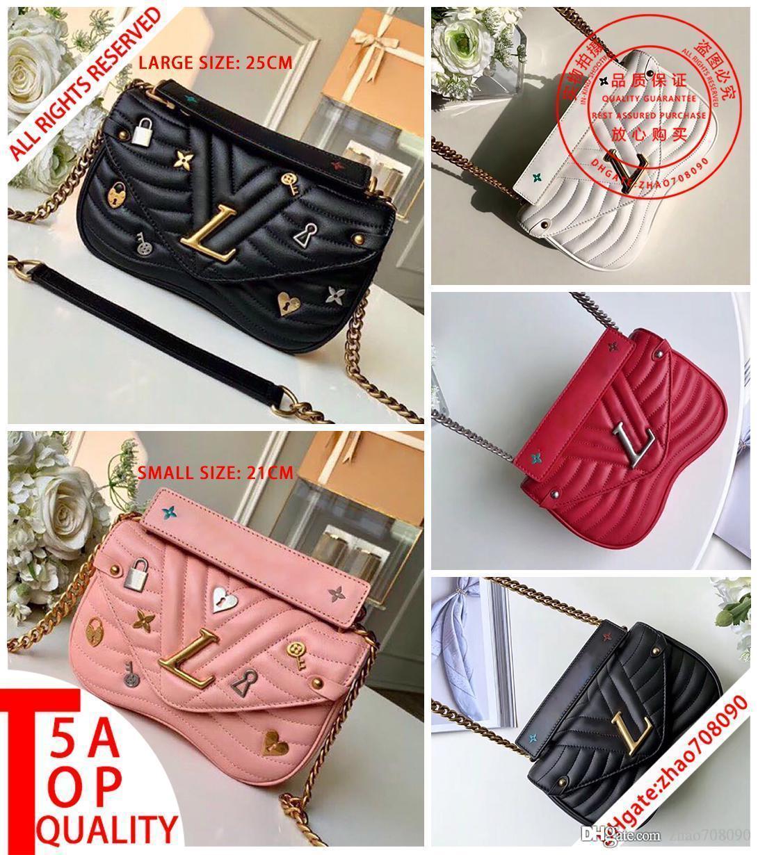 kutu B008 ile 5A En kaliteli Yeni Dalga Crossbody çanta gerçek deri Messenger çanta kadın omuz çantaları Akşam çantası koyun derisi cüzdan zinciri çantaları1
