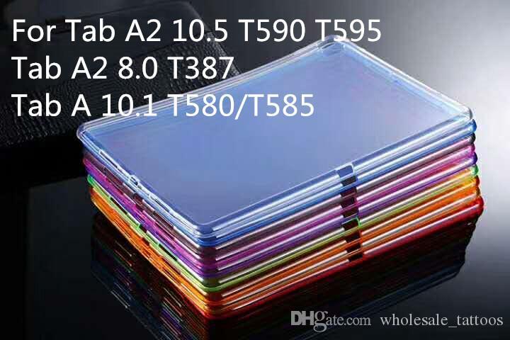 1.5mm Casos de TPU a prueba de golpes suaves Transparentes Cubierta delgada transparente para Samsung Galaxy Tab A2 10.5 T590 T595 Tab A2 8.0 T387 Tab A 10.1 T580 T585