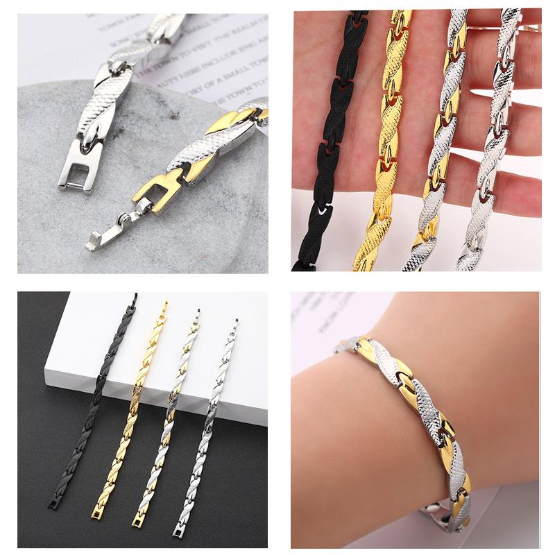 4-color European and American hot selling men's titanium steel room gold bracelet, women's jewelry dragon pattern 7mm wide jewelry hair