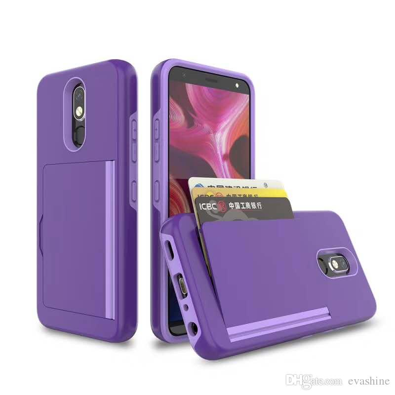 Wallet Case Card Holder Kickstand Shell Heavy Duty Protection Shockproof Durable Hybrid Rubber Armor Cell Phone Case For Samsung A9 2018