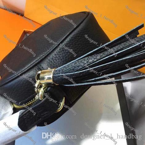 bolso clásico caliente del bolso SOHO DISCO bolso de la manera de la cremallera del hombro de la borla de cuero de las señoras bolso crossbody con la caja