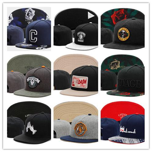 New Fashion Swag brand Cayler Sons brown Leather Snapback hip hop sport cap baseball hat for men women bones snapbacks bone gorras