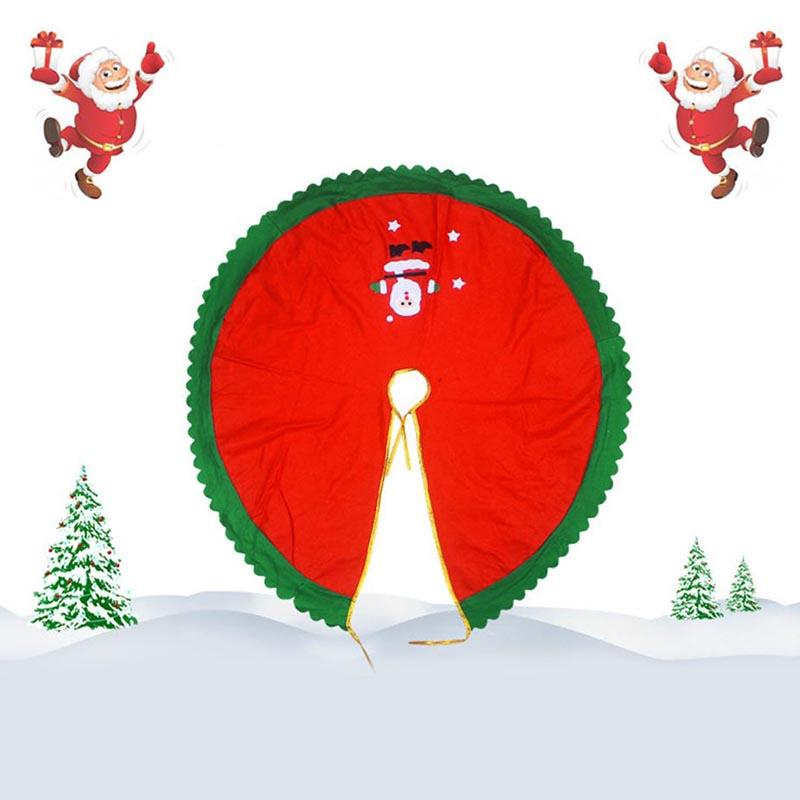 Christmas Tree Skirt Cover Non-woven Fabric Decoration For Home Party Holiday HYD88