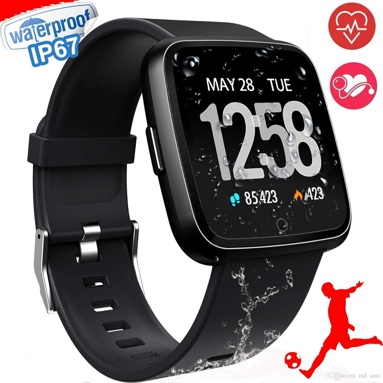 1,3 pouces à écran tactile intelligent montre IP67 Tracker Sport Fitness Anneaux Waterproof pression artérielle Moniteur de fréquence cardiaque pour IOS Android Smartwatch