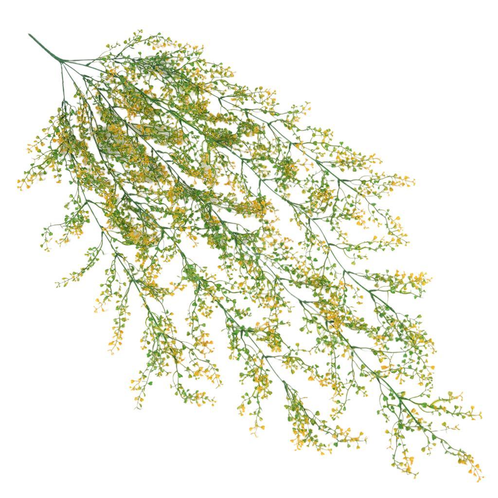 """Plastica simulato fiori e piante di vite Rattan 49,2 \"""" F / giardino della parete"""