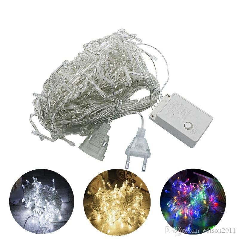 Edison2011 10m 20m 110 V 220 V LED luce stringa con coda che collega la festività impermeabile colorata illuminazione a led per Natale / matrimonio / festa