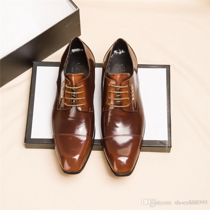 gucci Top Quality Grandi dimensioni 38-45 lusso ace firmati scarpe di cuoio scarpe da uomo più scarpe casual dimensione di lusso con il sacchetto di polvere di dialogo