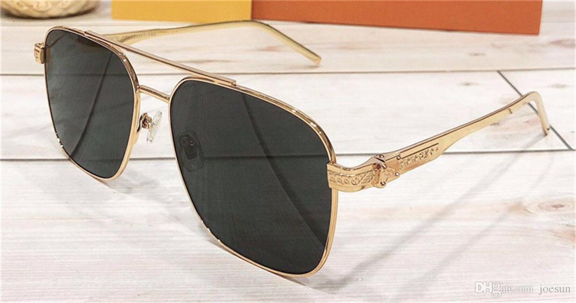 새로운 패션 디자이너 남성 금속 프레임 간단한 인쇄 된 문자 안티 UV 경우 400 보호 당신 ourdoor 도매 안경을 sunglassessquare