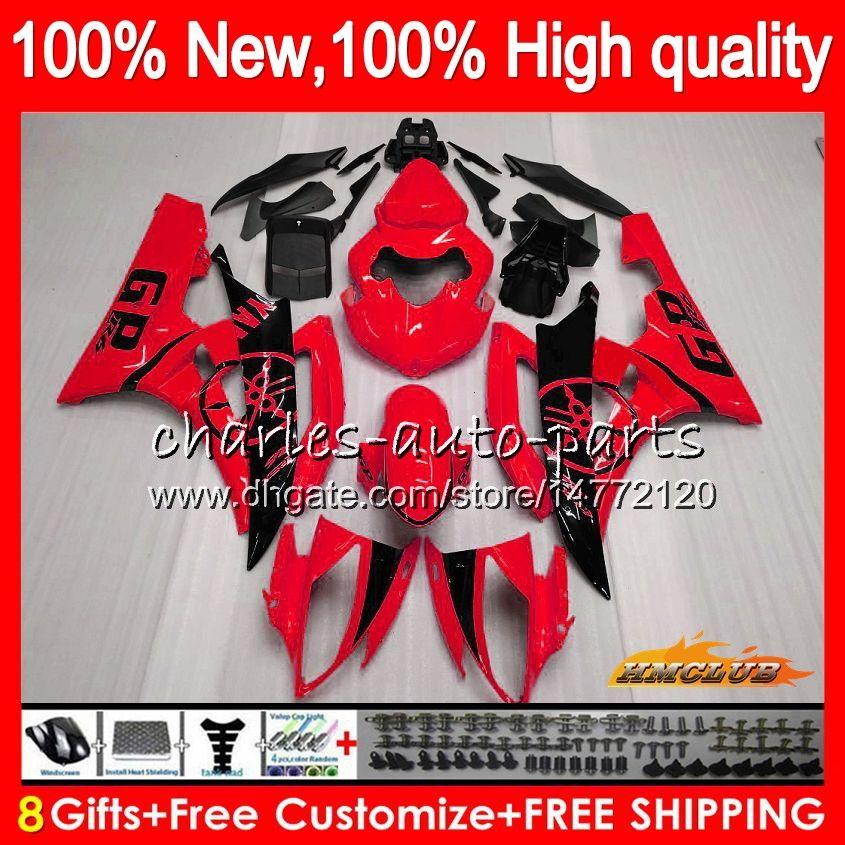 OEM Body For YAMAHA YZF R 6 YZF 600 YZF-600 2006 2007 Frame 61HC.113 YZF R6 YZF600 06-07 YZF-R6 600CC glossy red hot YZFR6 06 07 Fairing Kit